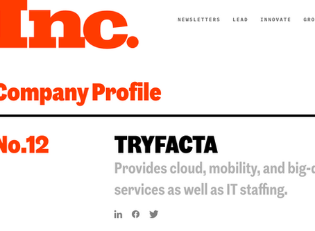 Inc. 500: Tryfacta Named America's #12 Fastest Growing Company