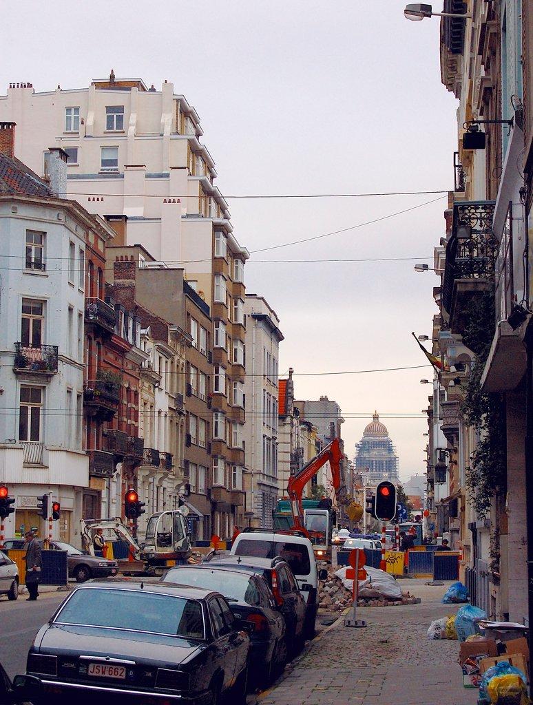 Calle en Bruselas