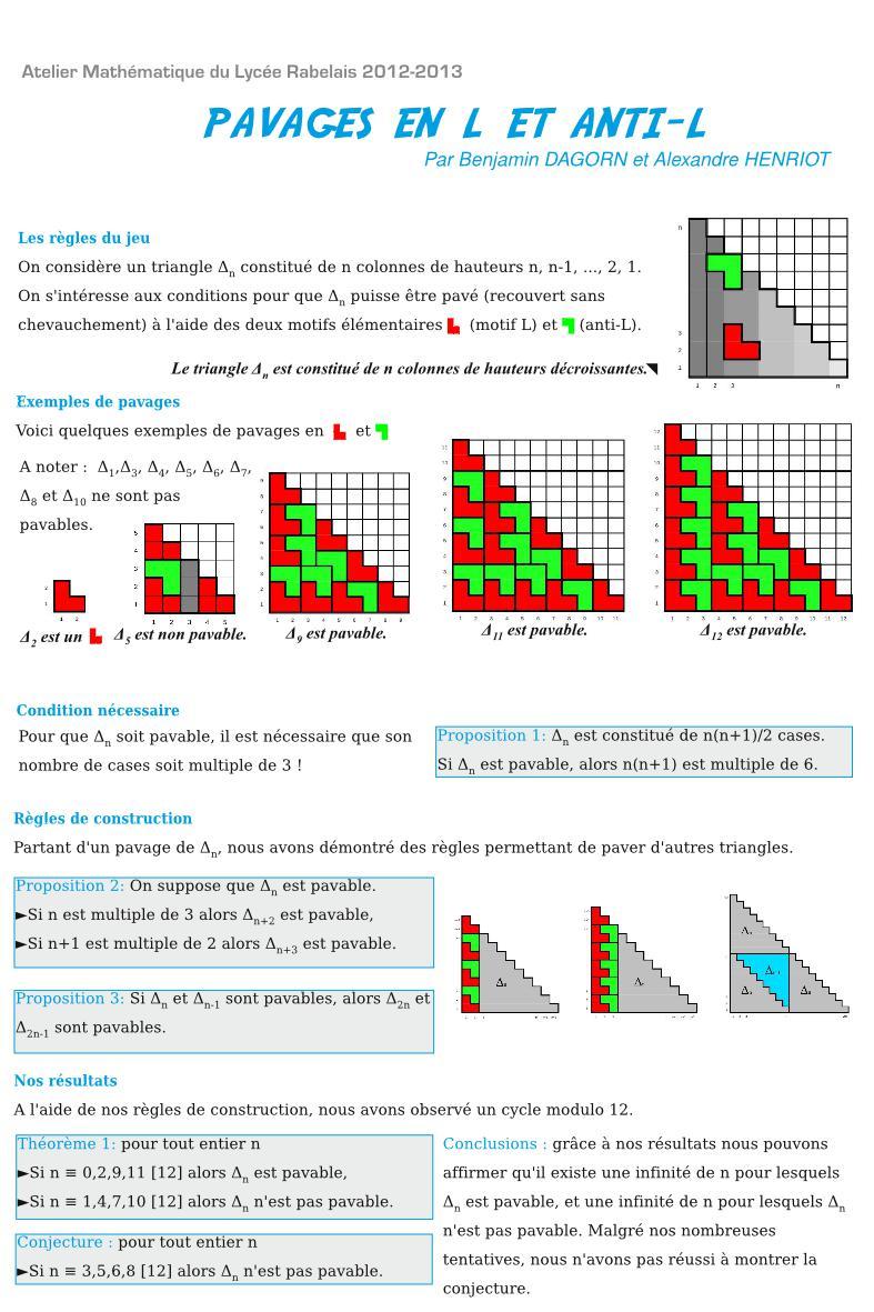 Atelier Mathématique