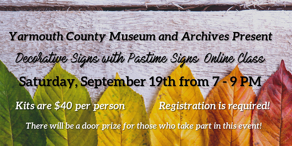 Decorative Signs with Pastime Signs