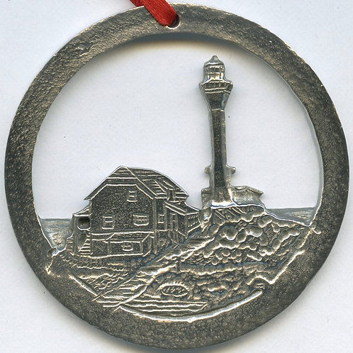 Pewter Ornament (Cape Forchu Lighthouse)