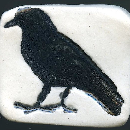 Crow magnet (pottery)
