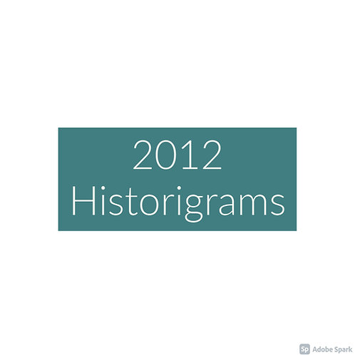 2012 Historigram newsletters