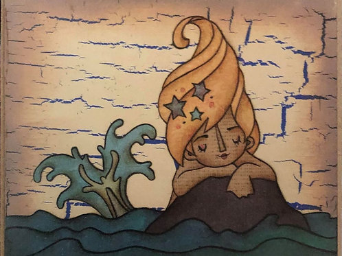 Artist Block - Mermaid on a rock