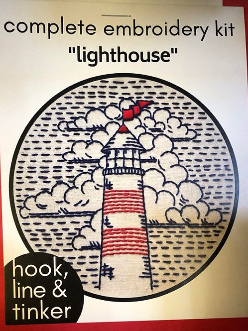 Complete Embroidery Kit - Lighthouse pattern
