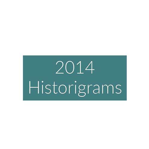 2014 Historigram newsletters