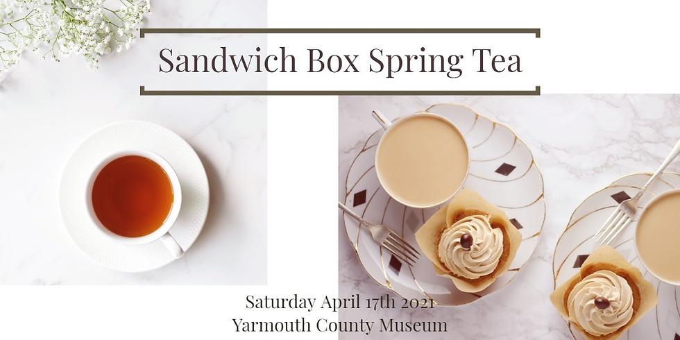 Sandwich Box Spring Tea (11am boxed take-out)