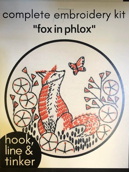 Complete Embroidery Kit -Fox pattern