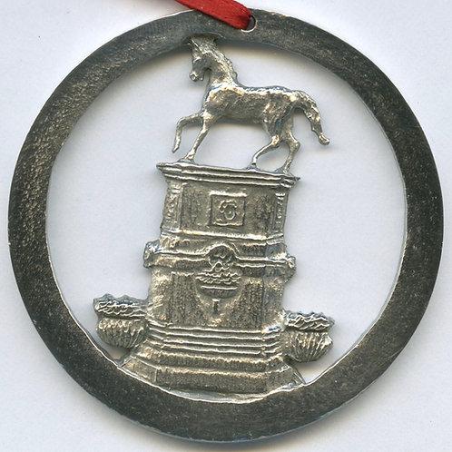 Pewter Ornament (Milton Horse Fountain)