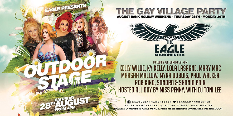 Eagle's Outside Saturday Stage at the Gay Village Party!