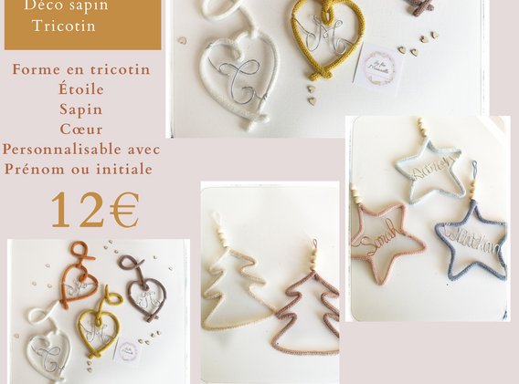 Déco sapin tricotin