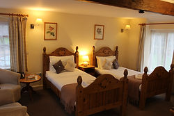 Twin Room at The Coppleridge Inn | Hotel | B&B | Inn | Dorset