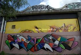 Fresque sur ancien HOPARE#loi du street art#couleurs#