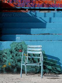 Fresque et chaise bassin extérieur Molitor