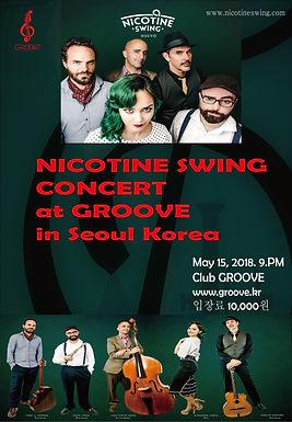 """Nicotine Swing"" GROOVE Concert(5월 15일)"