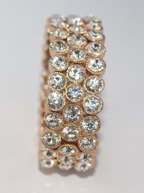 Gold Stretch Bracelet with Stones