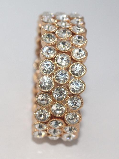 Gold Stretch Bracelet with Stones