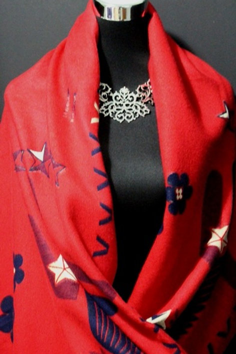 Red & Blue Scarf [Reversible]