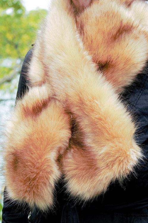 Faux Fur Scarf - Caramel