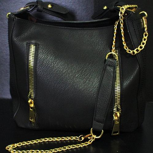 Black Zipper Purse