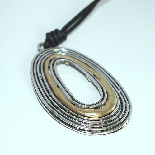 Round Leather Necklace