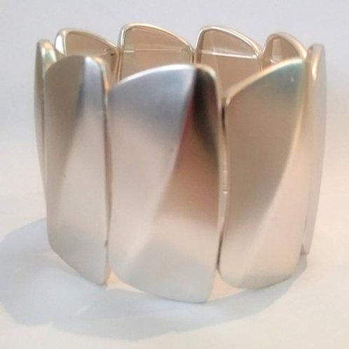 Brushed Silver Stretch Bracelet