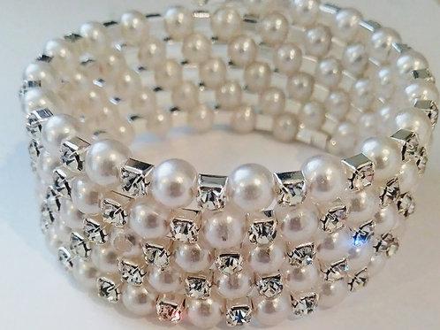 Pearl Stone Wrap Bracelet