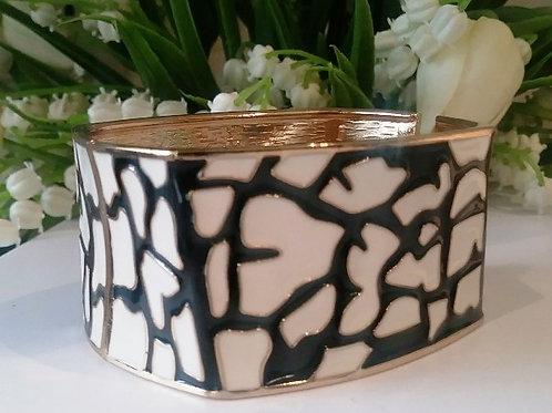 Square Black & White Bracelet