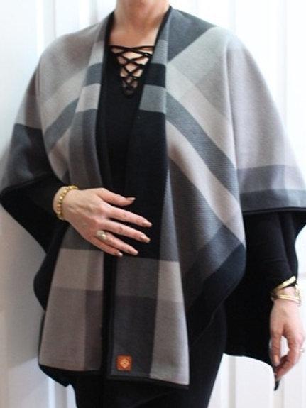 Stix Cape - Black & Grey