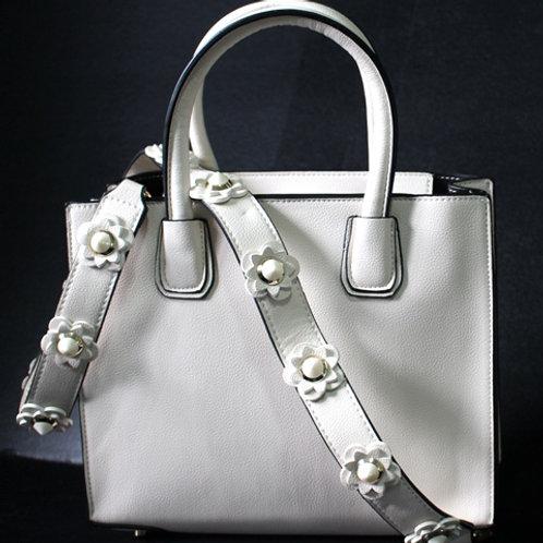 White Flower Purse