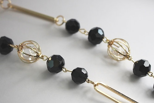Black & Gold Long Necklace