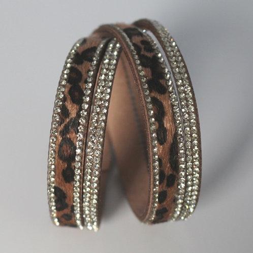 Tan Leopard Wrap Bracelet