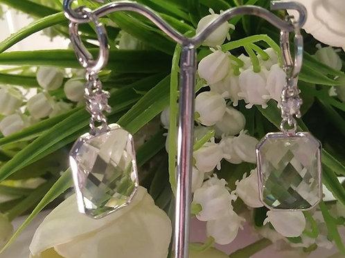 Large Diamond Cut Earring