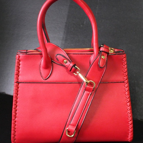 Red Stitch Purse