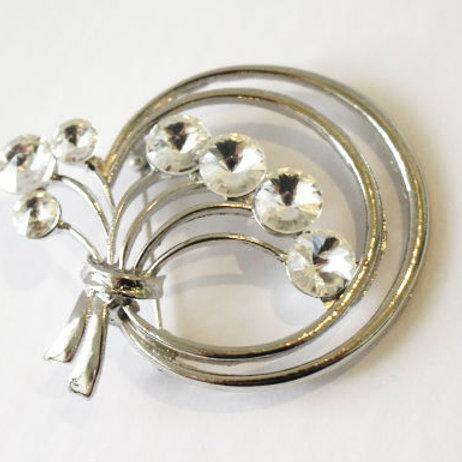 Silver Stone Brooch