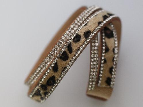 Cream Leopard Wrap Bracelet