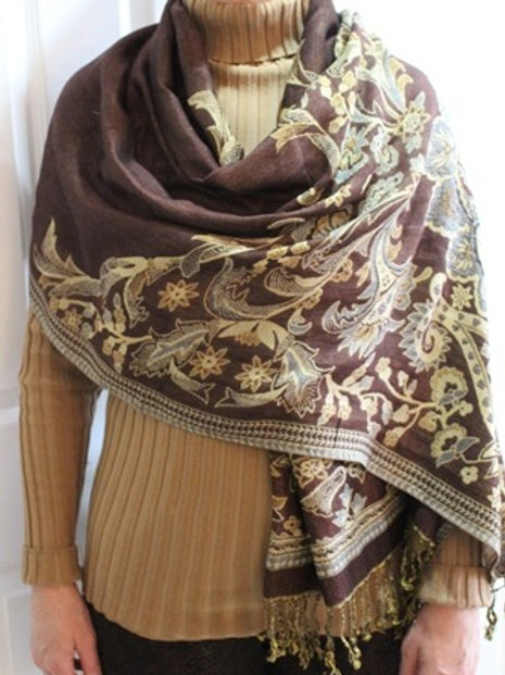Pashmina - Brown Beige (Reversible)