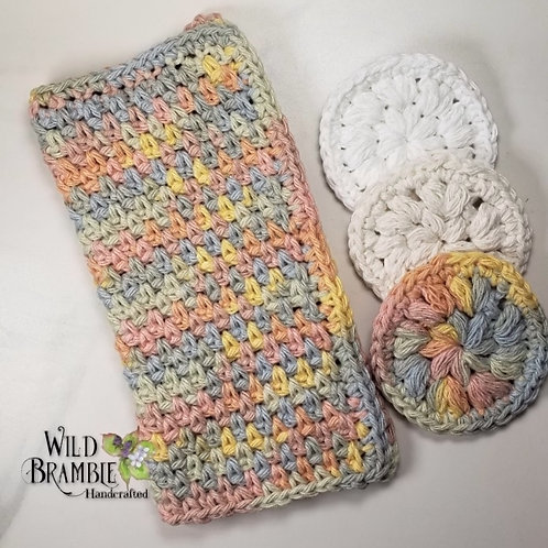 Buttercream Ombre Washcloth/Scrubbies Set for Her