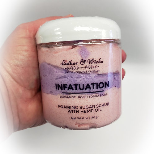 Infatuation Whipped Foaming Sugar Scrub with Hemp Oil