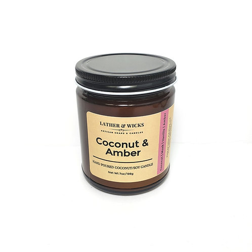 Coconut & Amber Coco/Soy Candle