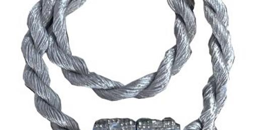 Abraçadeira Infinity Ima   Bella arte   Prata