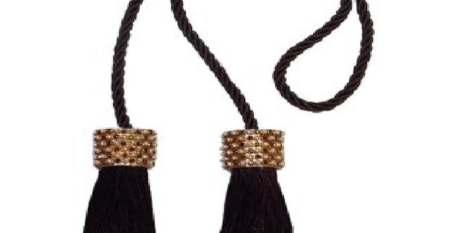 Cordão Infinity Mini Franjas | Bella arte | Imbuia