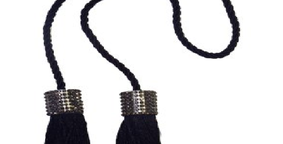 Cordão Infinity Mini Franjas   Bella arte   Preto