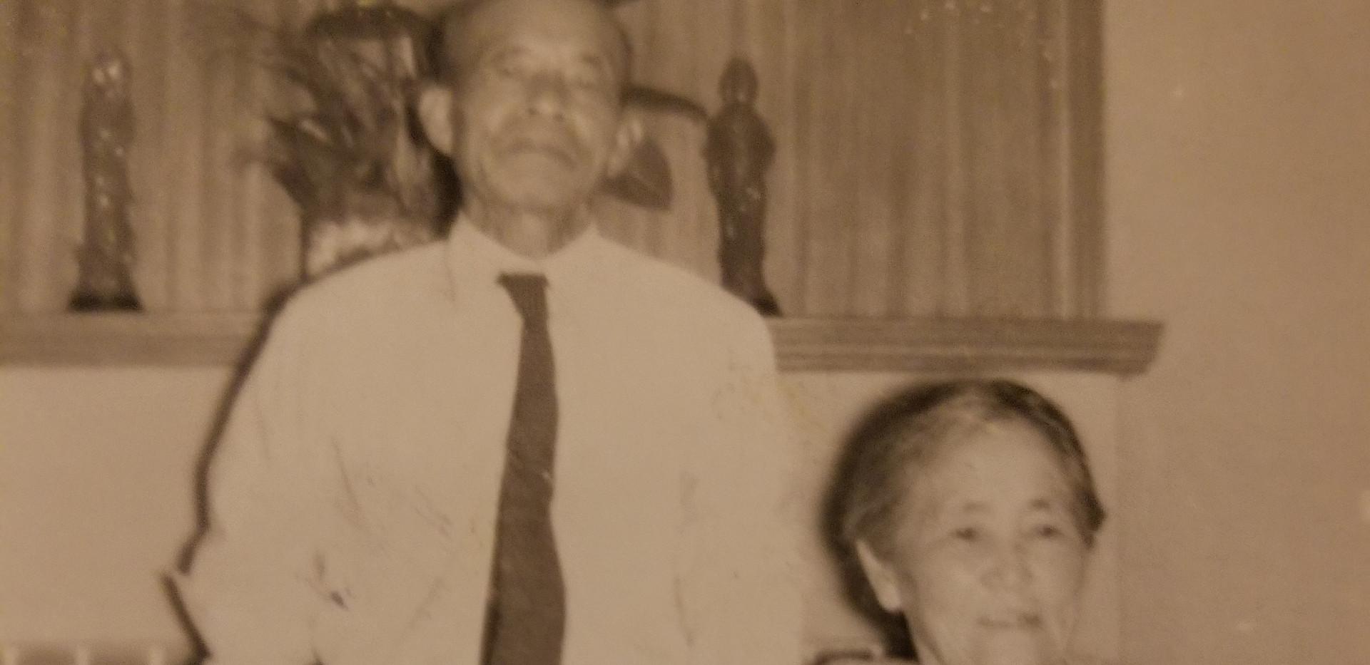 Yasutaro and Tsune (Sam and Glady's Sacramento home, ca. 1959)