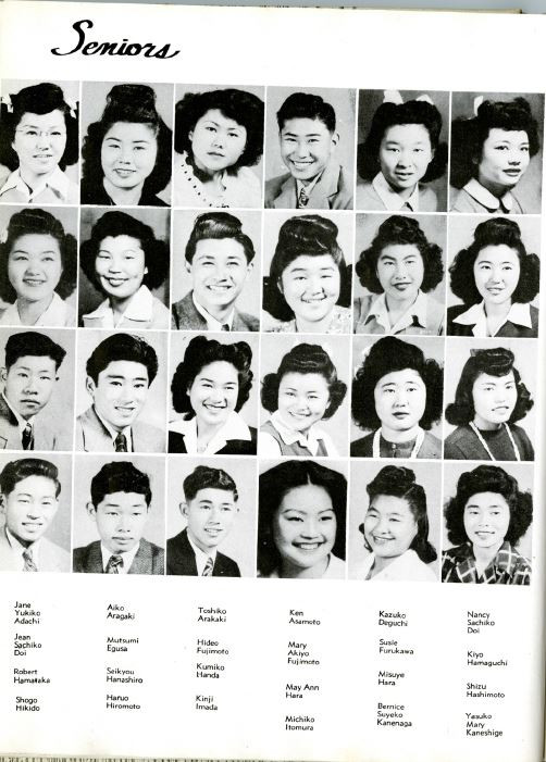 Jane (Yukiko) - Gila Internment Camp, Canal High School Yearbook (ca. 1945)
