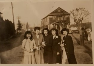 Jane (with Peggy Sabaraki, Kimi Doi, Edith Doi Oto, Sachi Kato) (ca ~1947)
