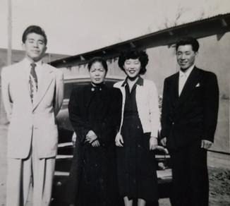James, Mumeno, Eiko, and Sam (ca. 1950)