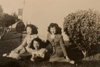 Jane with Rose Hamamoto Watanabe, Chizu Oto (ca. 1947)