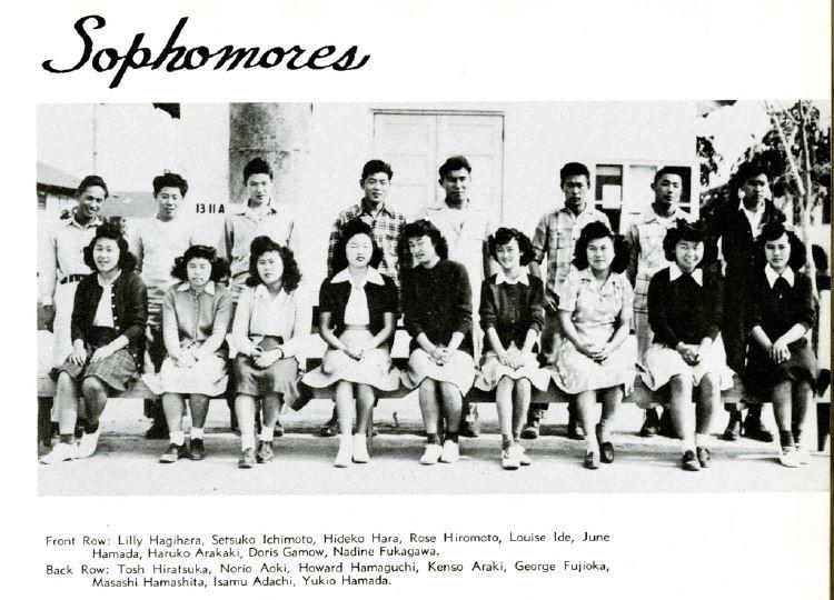 Sam (Isamu) - Gila Internment Camp, Sophmore Class (ca. 1945)