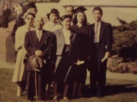 Ray and Gladys Itaya graduation from U.C. Berkeley (ca. 1957)